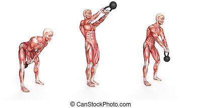 side step swing - kettlebell exercise - side step swing