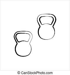 Kettlebell Icon Design Vector Art Illustration