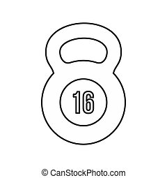 Kettlebell icon in outline style