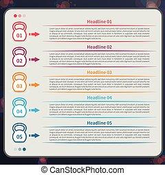 Kettlebell infographic, timeline