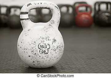 Kettlebell on Gym Floor