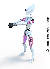 kettlebell, robot
