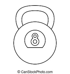 kettlebell weight gym fitness outline