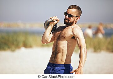 kettlebell, workout, crossfit