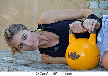 Kettlebells at the water tower