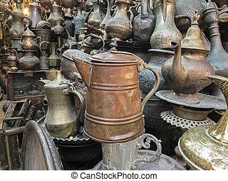 Kettles In The Jerusalem Market