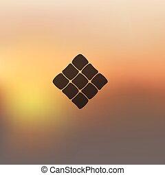 ketupat icon on blurred background