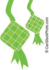ketupat, isolated on white