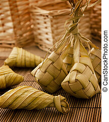 Ketupat or packed rice - Asian cuisine ketupat or packed...