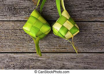 Ketupat (Rice Dumpling). Ketupat is a natural rice casing...