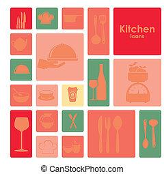 keuken, iconen