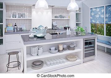 keuken, in, landelijke stijl