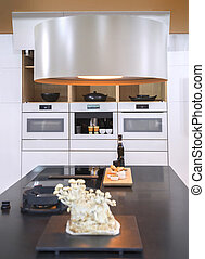 keuken, interieur, in, tijdgenoot, stijl