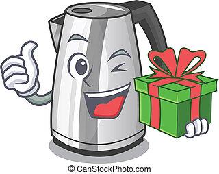 keuken, ketel, elektrisch, cadeau, mascotte