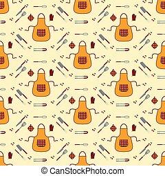 keuken, seamless, pattern.