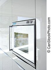 keuken, witte , oven, moderne architectuur, detail