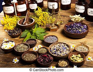 keukenkruiden, alternatieve geneeskunde, droog