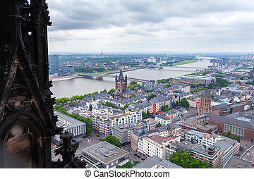keulen, luchtmening, cathedral., dom