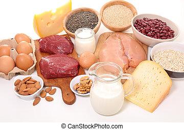 keuze van voedsel, hoog in eiwit