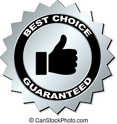 keuze, vector, guaranteed, best, etiket