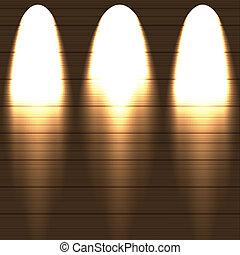keuze, verlicht, wall., houten, best, vector, illustration.