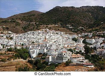 kevés, falu, alatt, andalusia