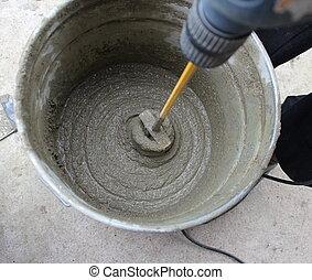 keverés, beton