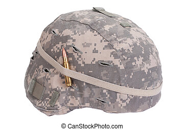 kevlar, armee, decke, tarnung, amulett, helm, uns, munition