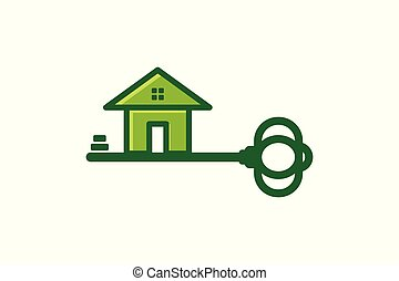Key and House, Security Logo inspiration isolated on white background