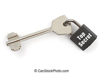 Key and lock Top Secret