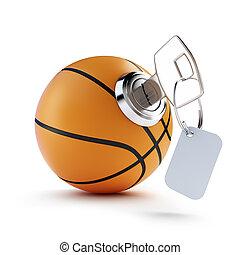 key basketball ball on a white background