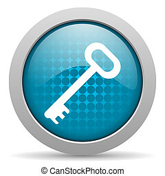 key blue circle web glossy icon