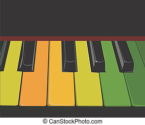 Illustration of a key board buttons in the piano