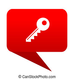 key bubble red icon