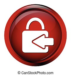 Key button, log in icon