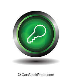Key Button. Vector icon