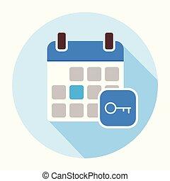 Key Calendar Day icon.