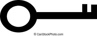 Key Card icon. vector Simple modern icon design illustration.