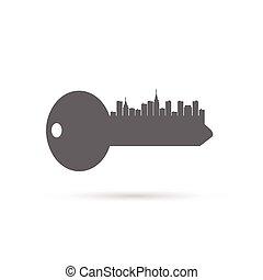 Key City Silhouette