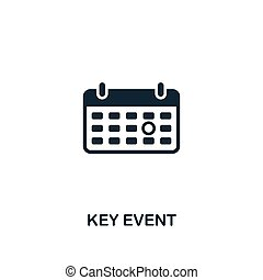 Key Event icon. Premium style design from business management icon collection. Pixel perfect Key Event icon for web design, apps, software, print usage