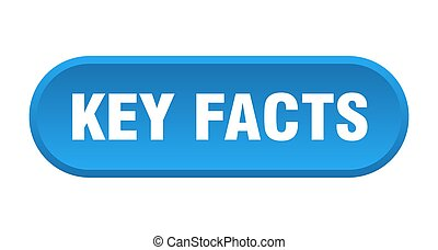 key facts button. rounded sign on white background - key ...