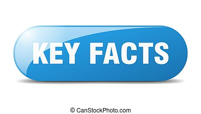 key facts button. sticker. banner. rounded glass sign - key ...