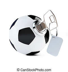 key football, soccer ball on a white background