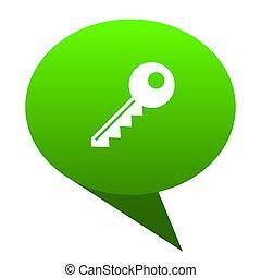 key green bubble icon