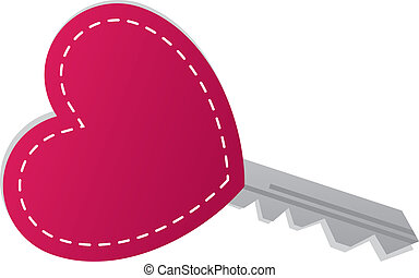Key Heart  - Key with heart symbol at the end