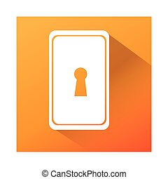 key hole isolated icon