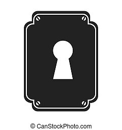 key hole safe icon vector graphic