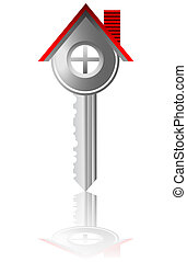 key house real estate business vect