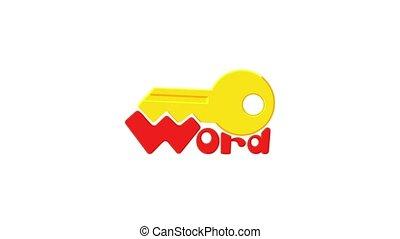 Key icon animation