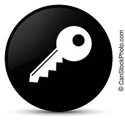 Key icon black round button